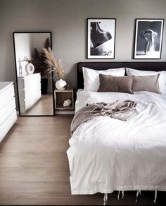 Room Ideas Bedroom, Small Room Bedroom, Home Decor Bedroom, Living Room Decor, Bedroom Ideas For Small Rooms For Adults, Modern Master Bedroom, Minimalist Bedroom, Contemporary Bedroom, Contemporary Style