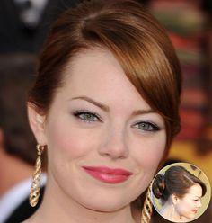 Celebrity Red Carpet Hair Styles #EmmaStone #MacadamiaNaturalOil
