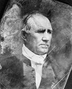 Sam Houston, photo of Sam Houston, head-and-shoulders portrait, three-quarters to the right. It was made in 1844.  The illustration documents President of Texas, 1836-1838, 1841-1844; Democratic Senator from Texas, 1846-1859.