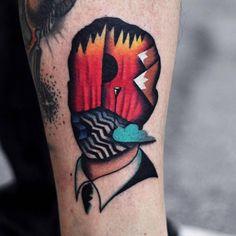 Tatuaje inspirado en Twin Peaks.