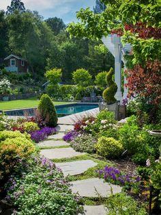 Moderner Garten Mit Teich Wege Anlegen Selbst