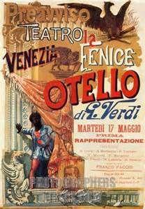Poster for Otello premiere , composed by Giuseppe Verdi