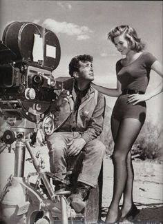 """50 Classy People From The Past Who Remind Us What """"Cool"""" Really Means! Dean Martin & Angie Dickinson on the set of Rio Bravo, 1959 Dean Martin, Vintage Hollywood, Classic Hollywood, Pinup, Cinema Tv, Reel Cinema, Classy People, Angie Dickinson, Photo Vintage"""