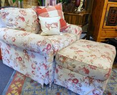 Chair and Ottoman $219.00. - Consign It! Consignment Furniture