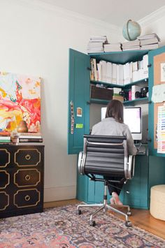 The perfect desk for a small space #desk #corner