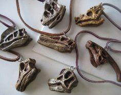 T. Rex Dinosaur SKULL Necklace, T. Rex, Dino, Skull, Tyrannosaurus