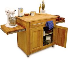 Build a Movable Kitchen Island | Floating in Space: Kitchen Carts & Portable Islands | Sheila Zeller ...