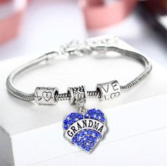 Grandma Charm Pendant Bracelet