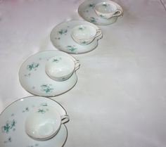 Vintage Service for 4, Atomic Snack Set, Tea and Crumpet Set, Starbursts and Clovers