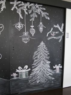 """Ornament illustration inspiration: """"Christmas Chalkboard Art: A New Tradition 