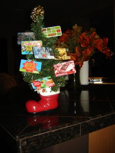 Christmas gift card tree for kids teacher each family contributed gift card tree great teacher gift negle Choice Image