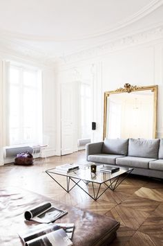 Inside a Chic Parisian Apartment With Major Cool Factor via @MyDomaineAU