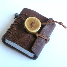 I remember ... tiny leather journal book for a by JunqueTreasures