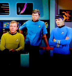 Star Trek original series: Kirk, Bones & Spock