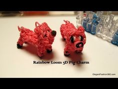 ▶ Rainbow Loom 3D Pig Charm - How to - YouTube