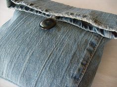 World's Easiest Recycled Jean Bag