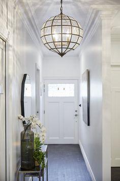 They Always Underestimate It: Hallway Week on The Block – Modern Led Hallway Lighting, Entrance Lighting, Hallway Pendant Light, Pendant Lights, Hallway Lamp, Foyer Bench, Upstairs Hallway, Modern Entryway, Entryway Decor