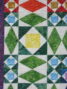 close-up of quilting, Rainbow at Sea quilt | Barbara Bieraugel Designs
