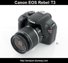 Canon EOS Rebel T3  12.2 MP CMOS Digital SLR with  18-55mm IS II Lens and  EOS HD Movie Mode (Black)    12.2 Megapixel CMOS (APS-C) sensor and  DIGIC 4 Image Processor for high image quality and speed.