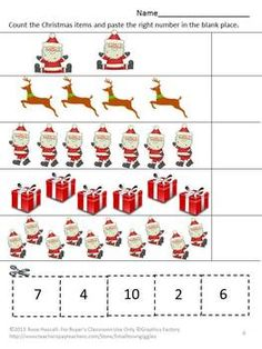Christmas is a fun time for all of us, especially children. They love anything related to Christmas. Practicing their counting skills with this Christmas Counting Fun With Santa Cut and Paste worksheet packet will make learning fun. Counting with Santa uses Christmas graphics and will help your students learn.