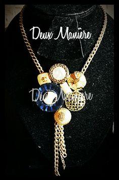 Vintage Necklace gold piezas unicas. Deuxmaniere@gmail.com