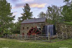 Spring at the Historic Wayside Inn Grist Mill in Sudbury Massachusetts