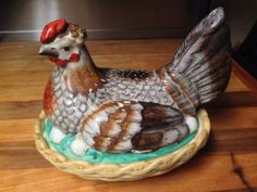 19th Century Staffordshire Hen On Nest