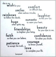 This is my wish for you, for each and every one of you…