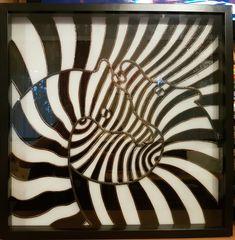 Handmade stained glass panel 50 x 50 cm by SuthViktoriaGlassArt Zebras, Glass Panels, Animal Print Rug, Stained Glass, Rugs, Handmade, Animals, Home Decor, Farmhouse Rugs