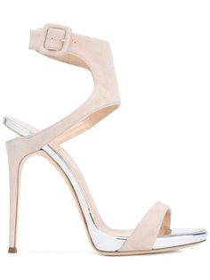 GIUSEPPE ZANOTTI Notched Heel Sandals. #giuseppezanotti #shoes #sandals