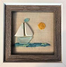 Natural Crafts, Peaks Island, Ocean Scenes, Calming Colors, Ocean Waves, The Rock, Sea Glass, A Table, Framed Art