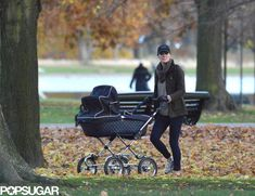 Kate Middleton pushes Prince George around the park