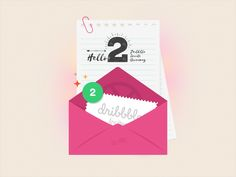2 Dribbble invites to give away! by Shab Majeed