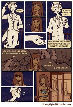 "strangelykatie: "" Full version of my comic Counting Stars, which I drew for a competition. "" corgifoxi: I loove this it's to cute, sweet and touching! Great job for thinking up such a lovely comic. Star Comics, Comics Story, Bd Comics, Cute Comics, Otaku, Counting Stars, Paper Stars, Sigmund Freud, Funny Cute"