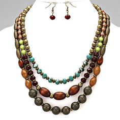 Jewelry-Licious, Fashion Jewelry thats Trending and Affordablel - WOMENS FASHION EARTHY STONE BEADED  NECKLACE SET, $26.99 (http://www.jewelrylicious.com/womens-fashion-earthy-stone-beaded-necklace-set/)