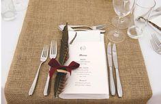 Pheasant feather menu