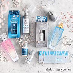 Próbáljátok ki hialuronsavat is tartalmazó Ombia termékeinket! #ombia #youth #cosmetology #cream Fiji Water Bottle, Drinks, Drink, Beverage, Drinking