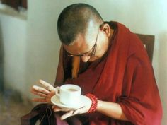 """When you rise in the morning think deeply from your heart, """"I am going to act in accordance with bodhicitta."""" When you go to sleep at night, check whether you acted in accordance with or against bodhicitta. Buddhism Zen, Buddhist Wisdom, Buddhist Teachings, Tibetan Buddhism, Lama Zopa Rinpoche, Zen Quotes, Think Deeply, Big Love, Go To Sleep"""