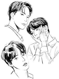 """보복 on Twitter: """"#도영 #DOYOUNG #NCT127… """" Kpop Drawings, Art Drawings Sketches, Cute Drawings, Boy Drawing, Call Art, Aesthetic Drawing, Kpop Fanart, Fandom, Art Inspo"""
