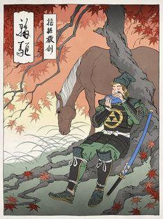 Games as Japanese Ukiyo-e (Wooden Art Print) - The Legend of Zelda