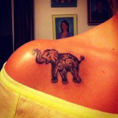 Love my new elephant tattoo!!!!