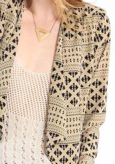 printed blazer / Threadsence
