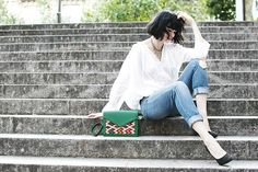 Get this look: http://lb.nu/look/8353099  More looks by Mahayanna . M: http://lb.nu/mahayanna  Items in this look:  Mykilimshop Kilim Bag   #casual #chic #street