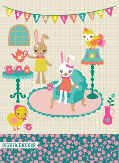 silvia-dekker-spring-teaparty-illustration