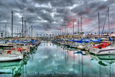 Oceanside Harbor Stormy Sunset - See more harbor photos by clicking on the photo