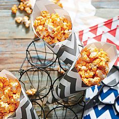 For a new snack favorite, try BBQ-Ranch Popcorn. We think you'll love the salty, sweet, smoky, barbecue flavor of the popcorn.Try other flavors like chili powder-lime zest and cinnamon-sugar.
