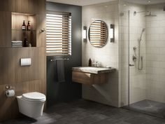 The Drake Transitional is a modern toilet to fit your most luxurious minimalist bathroom design. Upgrade with a WASHLET electric bidet with remote control and heated seat. Chic Bathrooms, Dream Bathrooms, Master Bathrooms, Bathroom Goals, Bathroom Ideas, Bath Ideas, Ada Bathroom, Downstairs Bathroom, Bathroom Vanities
