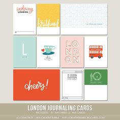 London Journaling Cards (Digital) / In a Creative Bubble Shoppe