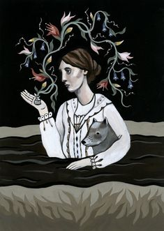 Virginia Woolf | Illustrated Literary Witches Book Celebrates Magical Women Writersl