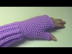 Haken - tutorial: polswarmers - fingerless gloves